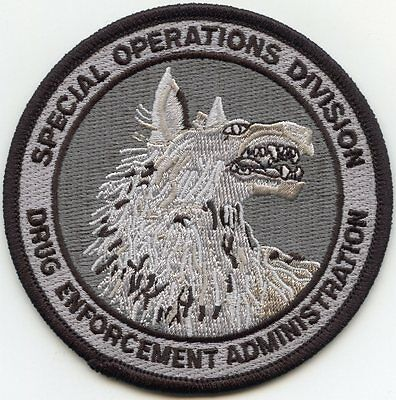 DEA WASHINGTON DC SPECIAL OPERATIONS DIVISION Narcotics Drug gray POLICE PATCH
