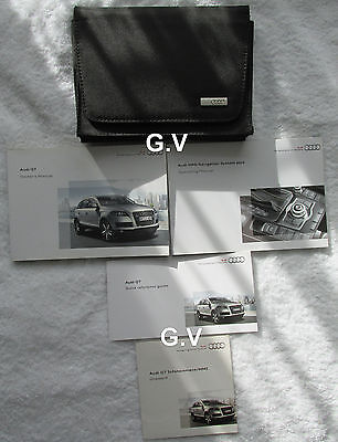 Audi Q7 Owners Handbook Manual With Wallet 2010 Free Post With Mmi Plus Manual
