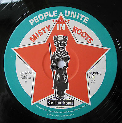 """CLASSIC UK ROOTS Misty In Roots See Them A Come / How Long Jah UK 12"""" Listen !"""