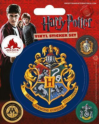 Vinyl Sticker / Aufkleber-Set HARRY POTTER - Hogwarts 1x 7,5cm 4x 2cm PS7224 NEU