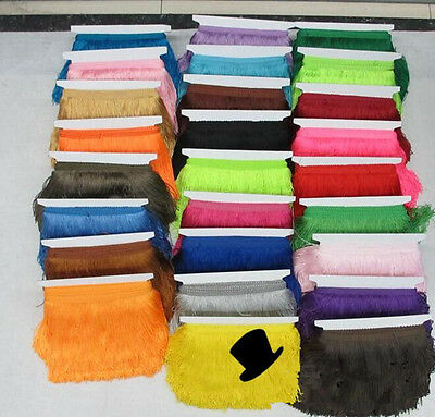 1/5/10 yard DIY Latin dance tassel lace / polyester thread to be 15 cm long