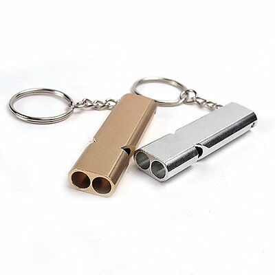 Portable Mountain Outdoor Survival Emergency Aluminum alloy loud Whistle