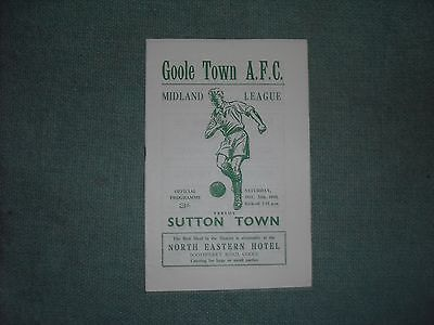 Goole Town  V  Sutton Town  (Ml)  20-12-58
