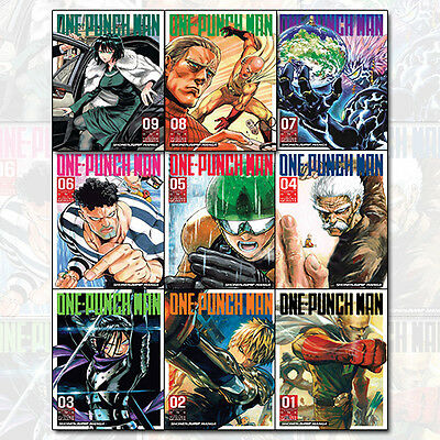One-Punch Man Volume 1-9 Children Manga Books 9 Books Collection Set Pack NEW PB