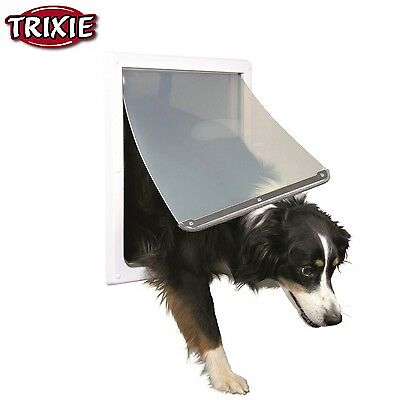 Trixie Pet Products 2-Way Locking Dog Door For Medium to X-Large Dogs White 3879