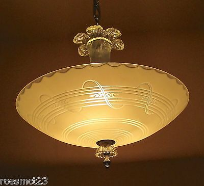 Vintage Lighting dazzling 1940s chandelier by Markel