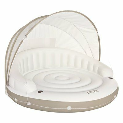 Intex Canopy Island Inflatable Lounge With Built-in Cup Holders 58292EP New