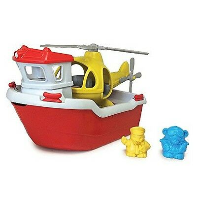 Green Toys Rescue Boat With Helicopter 816409011550