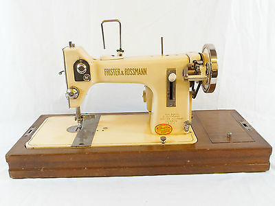 Antique Frister & Rossmann Sewing Machine in Cream with Electric Conversion