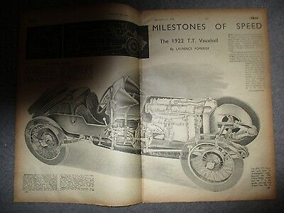 1922 Tt Vauxhall**milestones Of Speed***1944 Four Page Article**(See Photo)