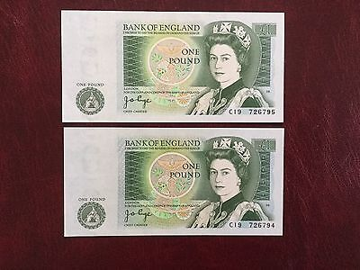 Clean & Crisp Two Page £ Consecutive Notes