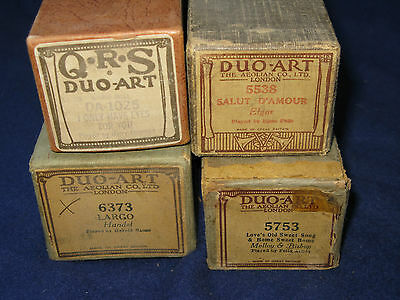 Four DUO-ART piano rolls & original fine boxes.
