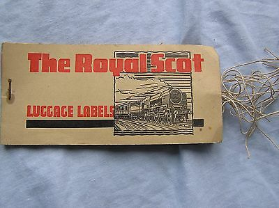 Vintage L.m.s. Railways - Book Of Luggage Labels - The Royal Scot