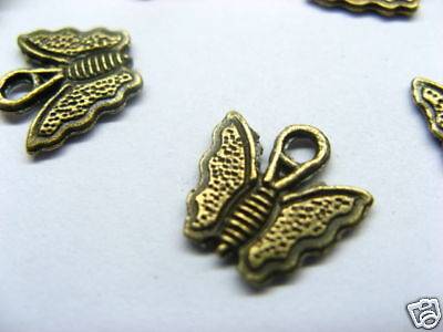 200 Copper Butterfly Pendant Jewelry Charm Finding