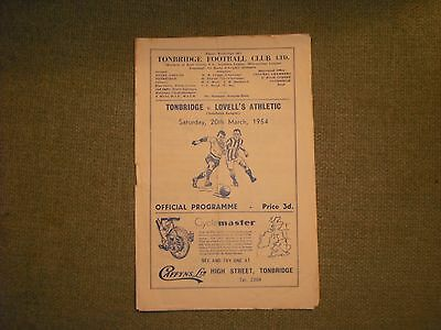 Tonbridge  V  Lovells Athletic  (Sl)  20-3-54