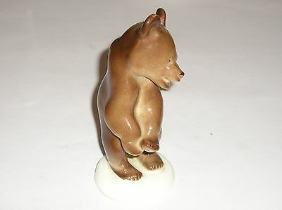 Lomonosov Russia Figure Of A Standing Brown Bear - 5 3/4 Inches High