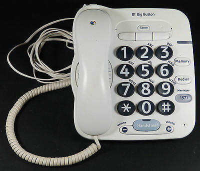 BT Big Button Phone for the Partially Sighted - Working