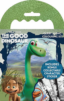 The Good Dinosaur Carry Along Colouring Pad Pencils Childrens Activity Set Kids