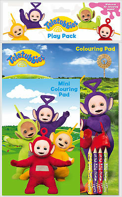 Teletubbies Play Pack Colouring Pads Pencils Childrens Activity Set Girls Kids