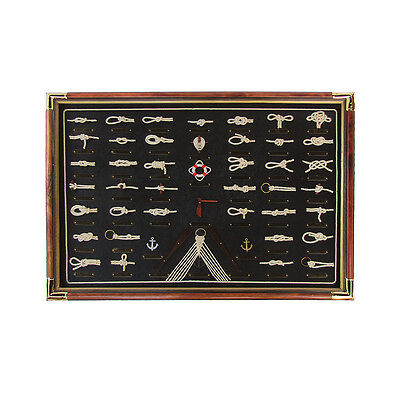 Large Sailor 41 Rope Knot&Rigging Board 3D Display Nautical Ship Home Wall Decor