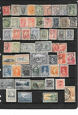 Greece  Stamps  Asst (53)  Used/m/h/overprint