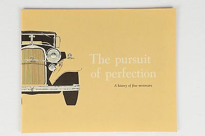 "Original 1959 Lincoln ""The Pursuit of Perfection"" Car Advertising Promo Brochure"