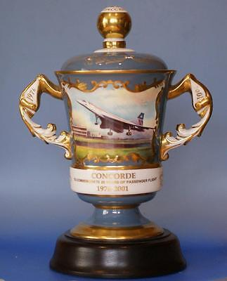 Concorde Aircraft Commemorative Lidded Chalice Limited Edition Aynsley Rare