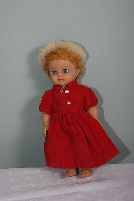 VINTAGE 1960s  ROSEBUD DOLL IN RED DRESS (4116)