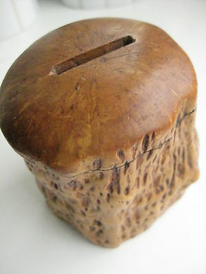 Antique Vintage Karelian birch money box hand made