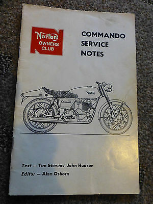 Norton Commando Motorcycle Workshop Service Notes - Owners Club Manual