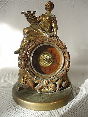 Small Spelter Clock. Spares Or Repair