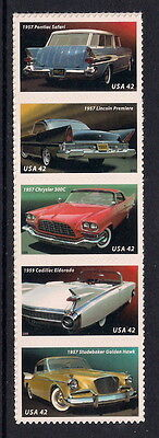 USA mint stamps - 2008 Classic American Cars from the 1950's, SG4904/4908, MNH