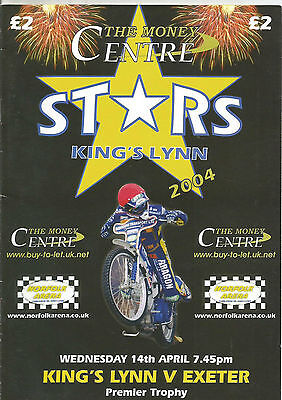 2004 KINGS LYNN v EXETER 14th APRIL     ( EXCELLENT CONDITION )