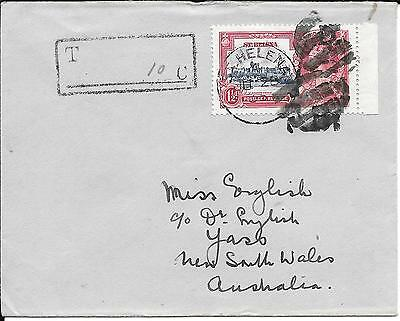 St. Helena Silver Jubilee Postage Due Deleted Charge On Cover 1935.