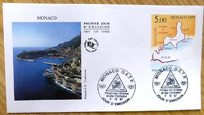 1997 Monaco Stamp FDC 'Geographical Territory' WM-2132.