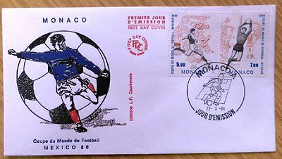 1986 Monaco Stamp FDC 'World Cup Soccer' WM-2123.
