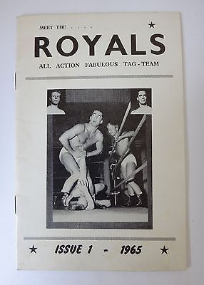 THE ROYALS 1965 Wrestling Magazine Issue no 1 High Grade inc. The Beatles - Rare