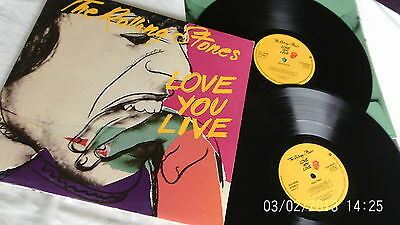 The Rolling Stones LOVE YOU LIVE double LP UK press 1977 NICE VINYLS