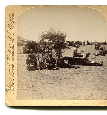 Boer War Stereoview. Telephonists/telegraphers Messages From British Siege Train