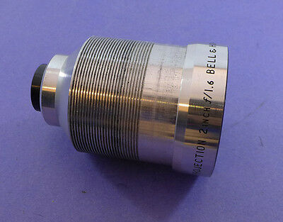Bell & Howell 2 inch f1.6 - 16mm projection lens silver body #1 SK