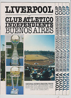 1984 World Club Champs.Independiente v Liverpool.