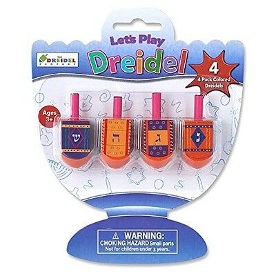 The Dreidel Company Let's Play Dreidel The Hanukkah Game 4 Multi Colored Hand