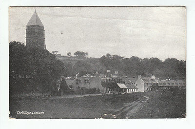 The Village Lamlash Isle Of Arran 4 Aug 1920 Davidsons Ideal Series Old Postcard