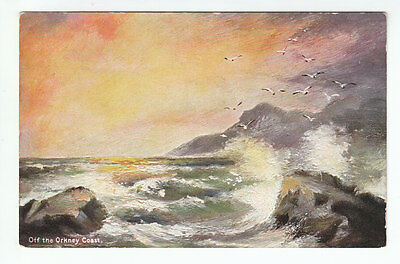 Off The Orkney Coast Scotland Pre 1914 BB London Series A4 Old Postcard Unposted