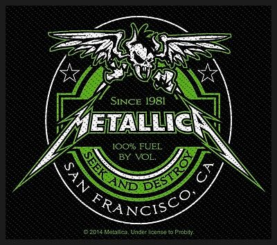 METALLICA - Patch Aufnäher - Beer Label 8x10cm