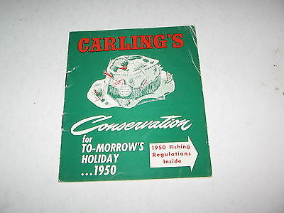 1950 Carling's  Fishing  Conservation Club 10 Page  Booklet Waterloo,ontario