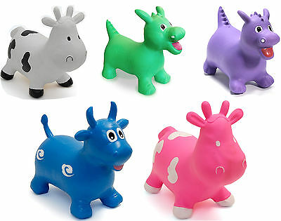 Happy Hopperz Inflatable Kids/Child Animal Space Hopper/Bouncer Ride-On Toy BN