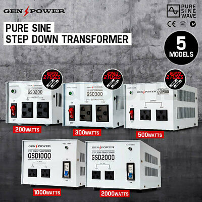 NEW GENPOWER Step Down Transformer 240V-110V Stepdown Voltage Converter AU-US