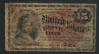 15¢ Old Red Seal Fractional Currency Postage Note Scarce Odd Obsolete Money Bill