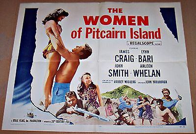 The Women Of Pitcairn Island (1957) Sexy Island Girls * Original 22X28 Half-Sht